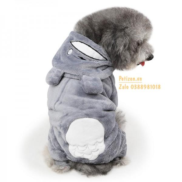 quần áo chó mèo long mao xám