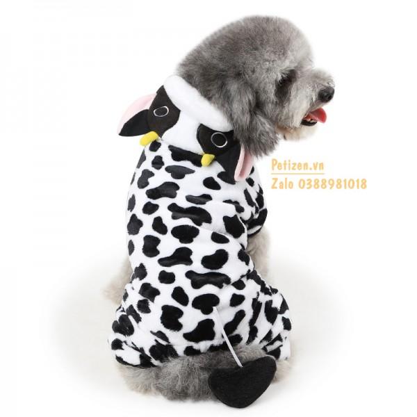 quần áo chó mèo bò sữa