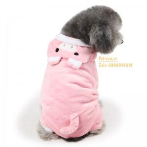 quần áo chó mèo heo hồng cute