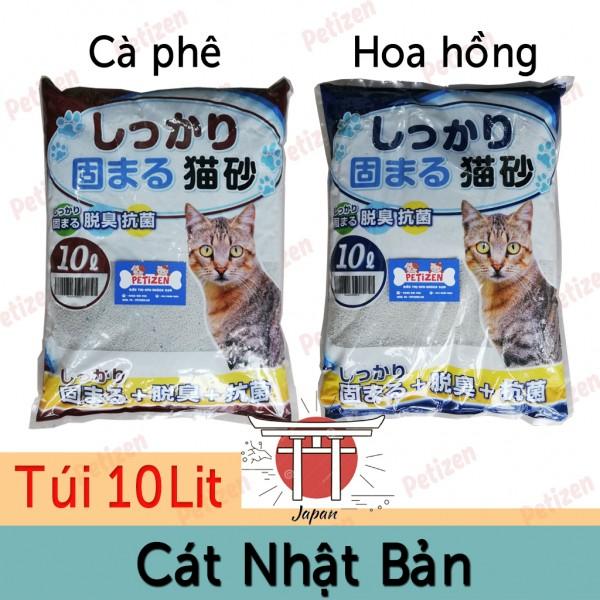 cát vệ sinh mèo nhật bản 10L