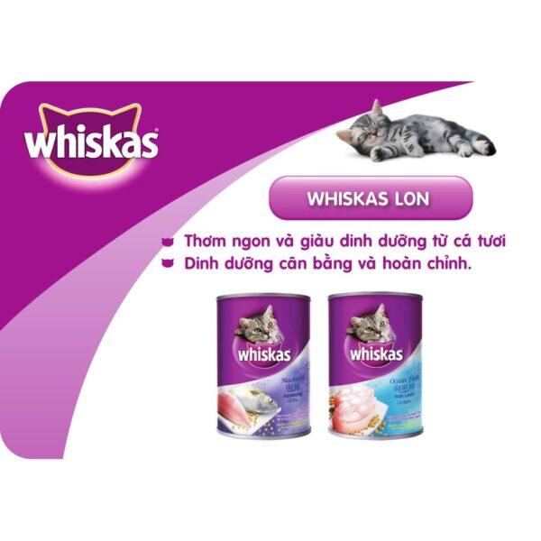 Pate Whiskas 400g mèo trưởng thành