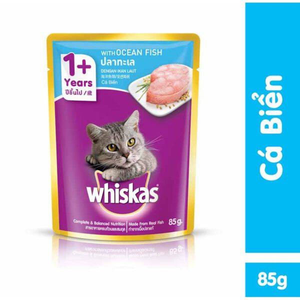 pate cho mèo whiskas vị cá biển