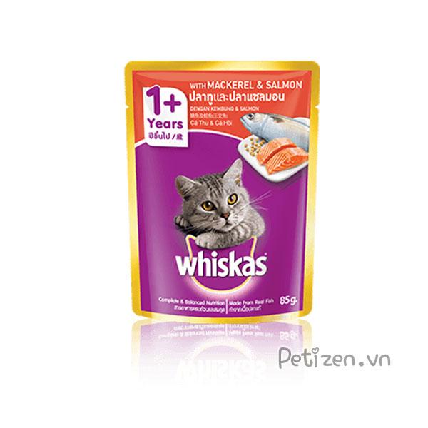 pate cho mèo whiskas vị cá hồi